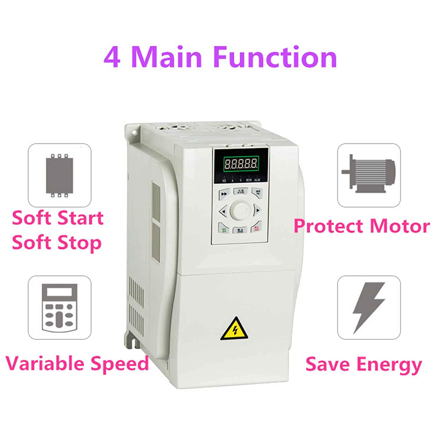 Gaeyaele Lnc860 3 Phase Variable Frequency Drive 075kw Circuit Diagram Soft 15kw Vfd 50hz 60hz 380v Inverter 3p 1hp Car Electronics