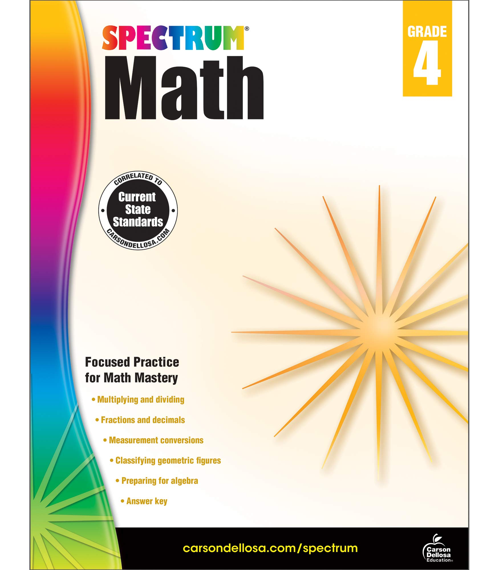 Spectrum Math Workbook, Grade 4: Spectrum: 9781483808727 ...