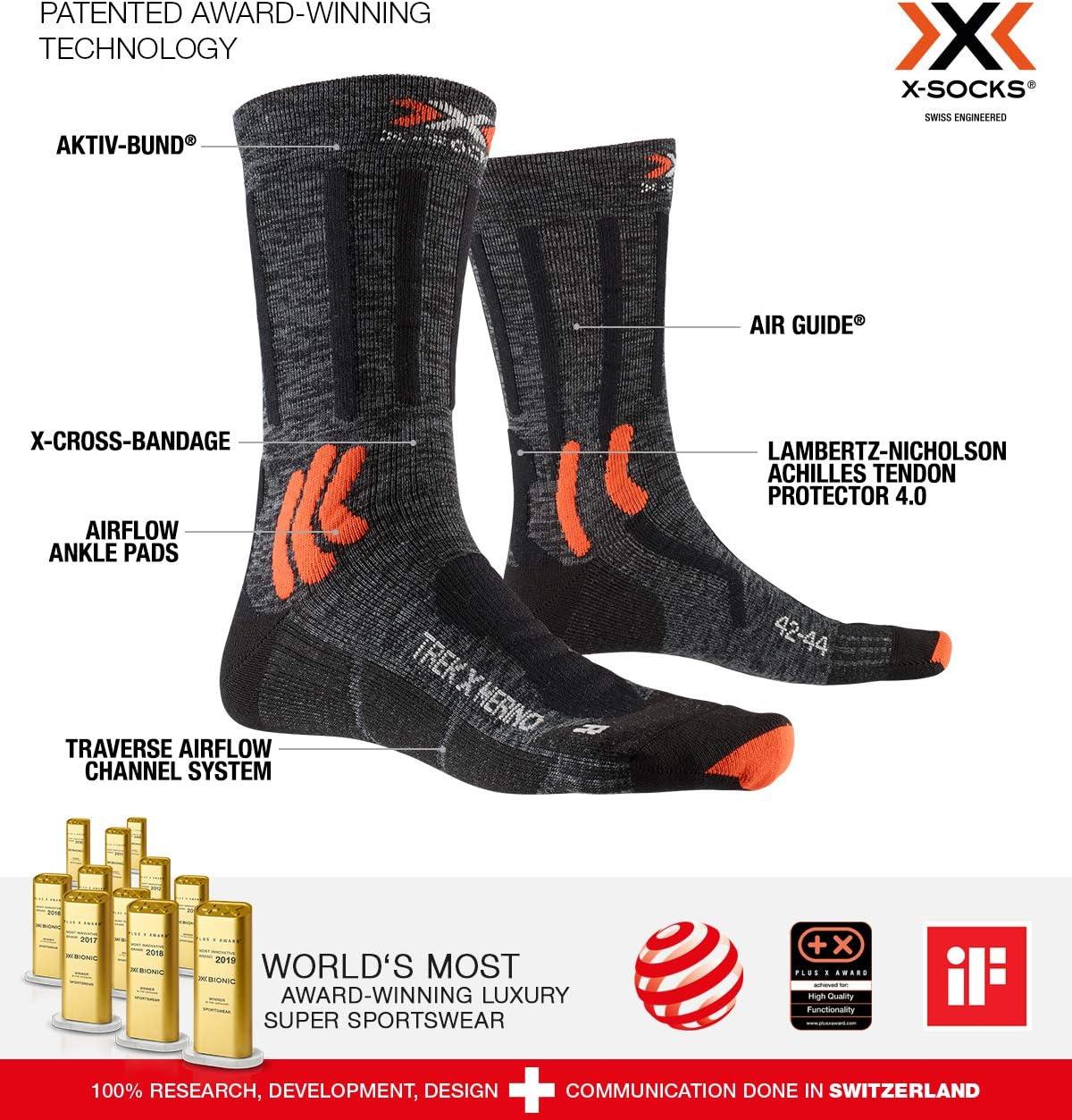 X-Socks Trek X Merino Socks Calcetines De Senderismo Trekking Hombre