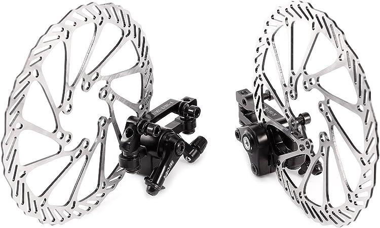 MTB Bike Mechanical Disc Brake Calipers 160mm//180mm Disc Brake Rotor 6 Bolts UK