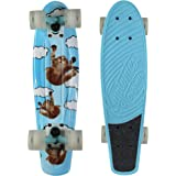 Kryptonics Original Torpedo 22.5 Inch Complete Skateboard - Sky-Cats