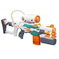 Nerf Modulus - Tri Strike Blaster inc Barrel Extension, Missile Launcher Stock, 14 Genuine Darts & 1 Missile