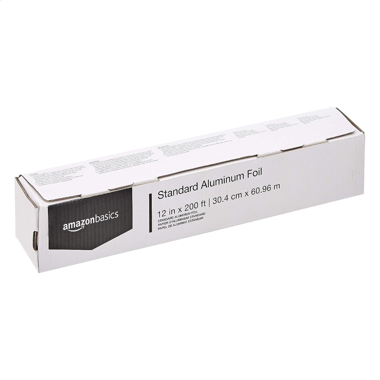 "AmazonBasics Standard Aluminum Foil, 12"" X 200'"