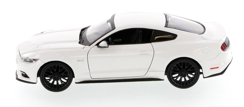 Ford Mustang GT 2015 Mod/èle De Voiture Moul/é sous Pression en M/étal /Échelle 01:36 Ouverture Portes D/étaill/ées D/étail Int/érieur Action Mod/èle De Welly Blue