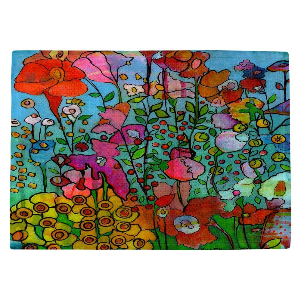 DIANOCHEキッチンPlaceマットby Kim Ellery – Joyful Chatter Set of 4 Placemats PM-KimElleryJoyfulChatter2 Set of 4 Placemats  B01EXSHIF4