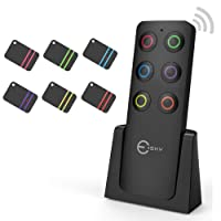 Esky Schlüsselfinder Wireless Key Finder mit 6 Empfängern RF Item Locator, Item Tracker Support Fernbedienung, Haustier Tracker, Wallet Tracker, Gute Idee für Ihre verlorenen Gegenstände