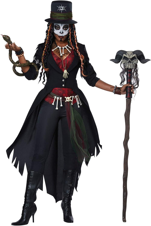 Madame Hex Womens Adult Voodoo Witch Doctor Halloween Costume