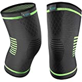 Sable Knee Brace Support Compression Sleeves for Men and Women, 1 Pair FDA Registered Wraps Pads for Arthritis, ACL, Running, Pain Relief, Injury Recovery, Basketball and More Sports (Medium)
