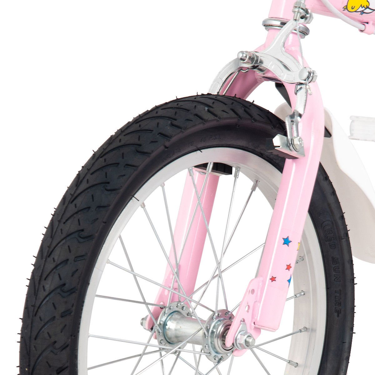 FDInspiration Pink 45'' x 31.5'' Metal Frame Kids Bike w/Training Wheels with Ebook by FDInspiration (Image #8)