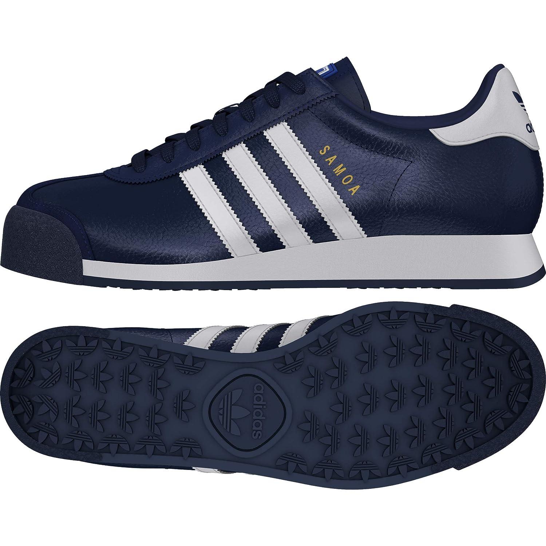 New Adidas Men's Originals Samoa Leather Shoes (EG1577) Collegiate Navy White