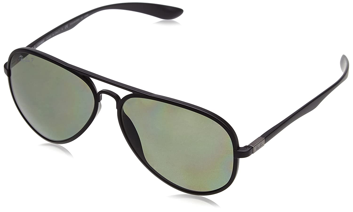 c384e533a8 Amazon.com  Ray Ban RB4180 Liteforce Tech Sunglasses 601S 9A Matte Black  (Polarized Green Lens)  Ray-Ban  Clothing