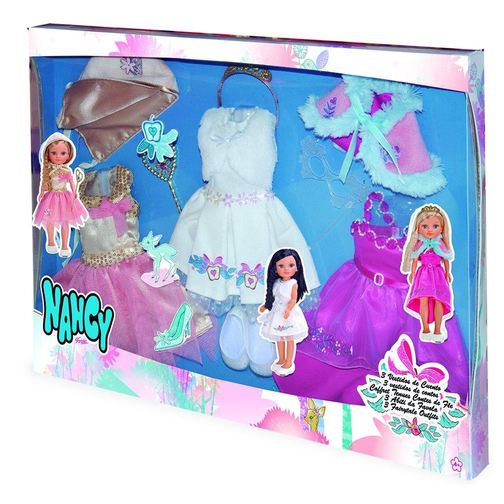Nancy 3 vestidos de cuento (Famosa 700013051): Amazon.es: Juguetes y juegos