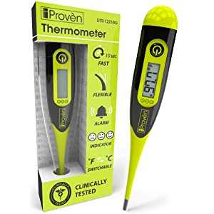 [New Version] Digital Thermometer for Baby - Protect Your Family - for Babies, Kids and Adults - Rectal or Oral Use - Accurate and Fast Temperature Measurement (termometro)