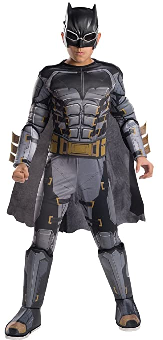 Rubies Costume Boys Justice League Deluxe Tactical Batman Costume, Large, Multicolor