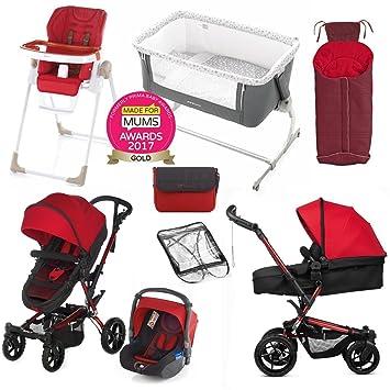 Jane Crosswalk convertir Koos completa recién nacido Bundle ahorrar £533 rojo: Amazon.es: Bebé