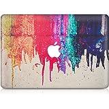 """kwmobile Aufkleber Sticker für Apple MacBook Air 13"""" (ab Mitte 2011) Skin Folie Voderseite Decal Regenbogen laufende Farbe Design"""