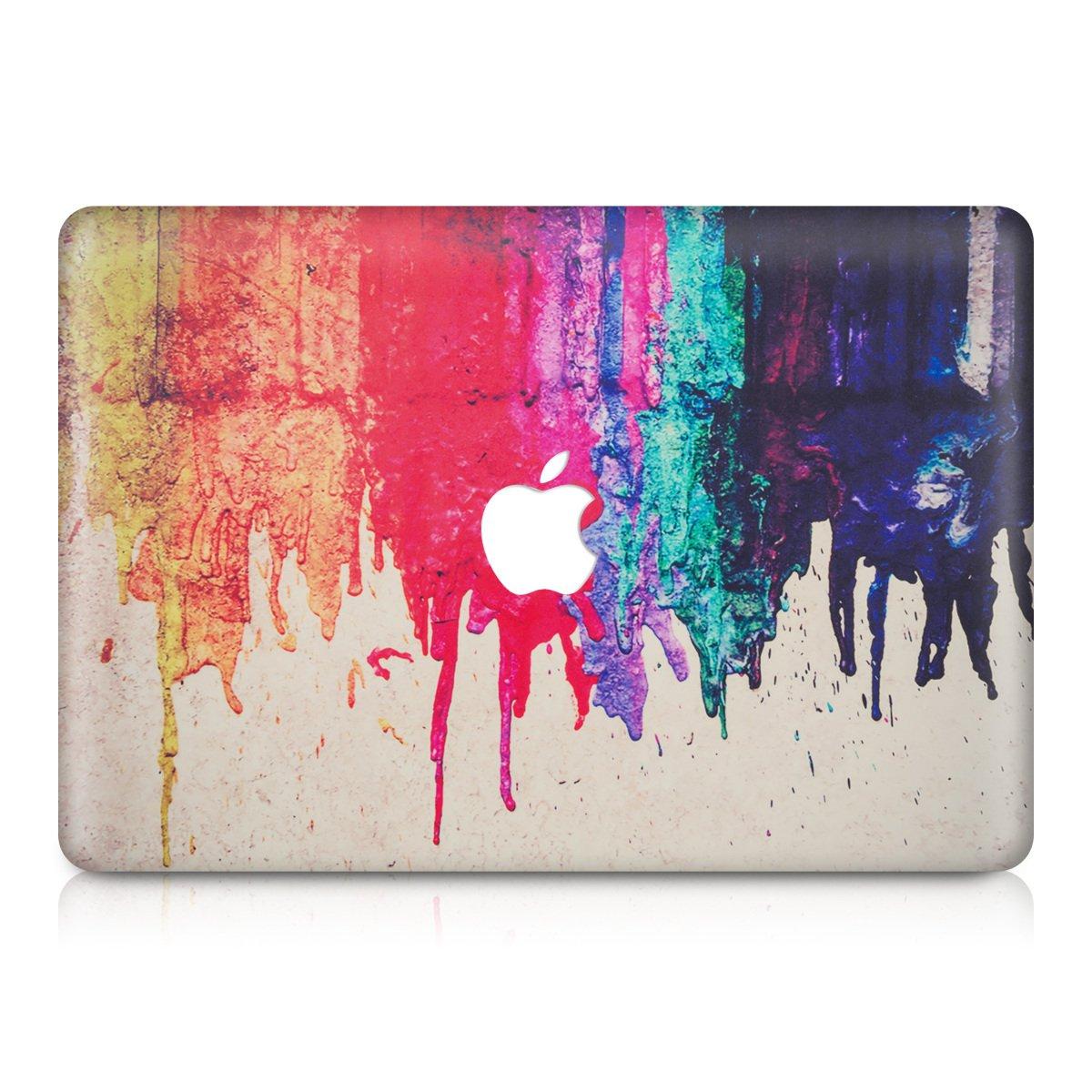 【送料無料(一部地域を除く)】 kwmobile したたる虹カラフルデザイン Apple MacBook Air 13