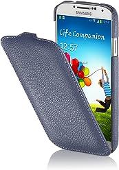 StilGut UltraSlim Case, Custodia in Vera Pelle per Samsung Galaxy S4 i9500, Blu Notte