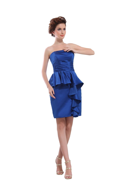 Dresstells Elegant Damen Kleider Kurz Satin Ballkleider ...