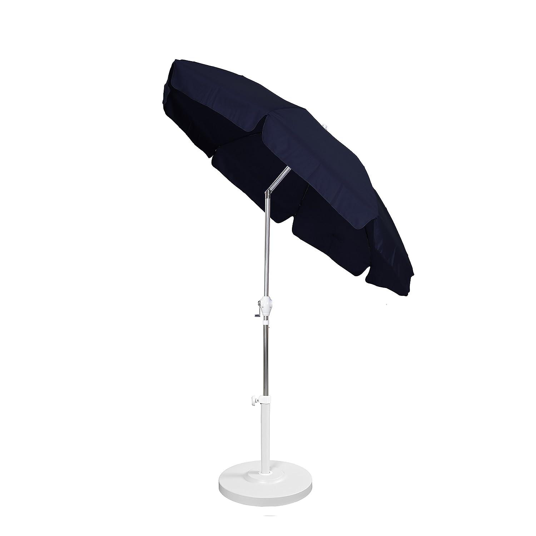 California Umbrella 7-1//2-Feet Aluminum Push Tilt Patio Style Umbrella White