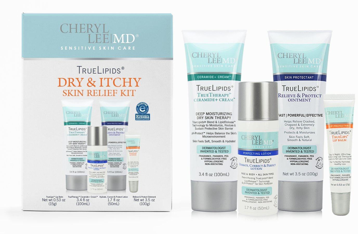 TrueLipids Dry & Itchy Skin Relief Moisturizing Cream & Lotion