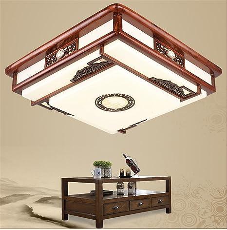 BRIGHTLLT Madera maciza vitela luz luz luz de techo chino ...
