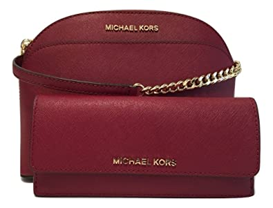 55675fe9083114 MICHAEL Michael Kors Emmy MD Crossbody bundle with Michael Kors Jet Set  Travel Flat Wallet (