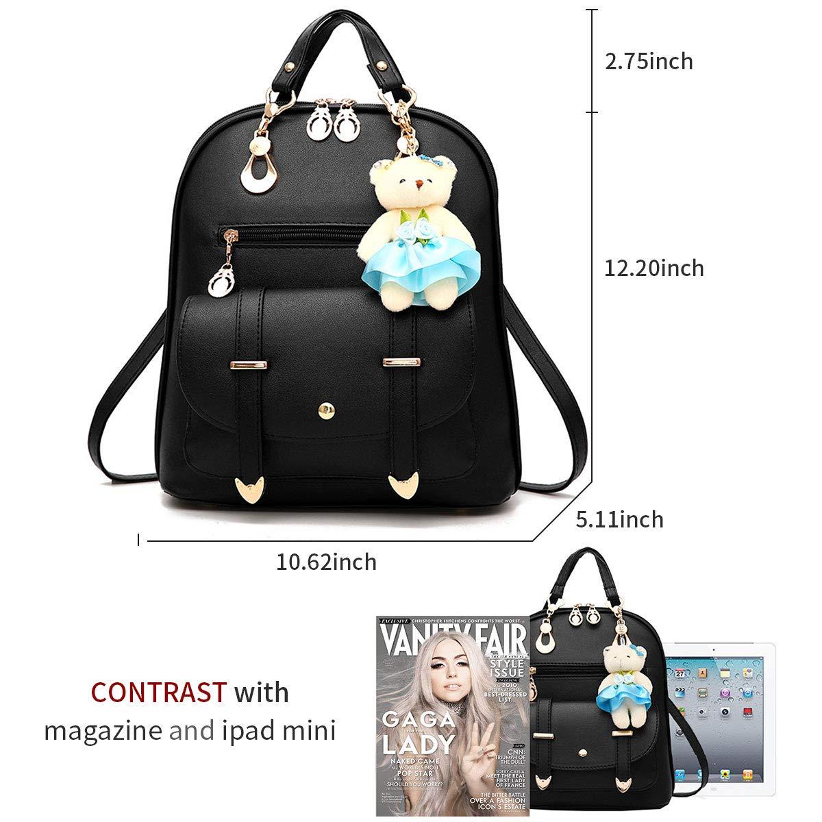 1e136a7efe1 Backpack Purse for Women Large Capacity Cute Mini Backpack for Girls Pu  Leather Bags,Burgundy