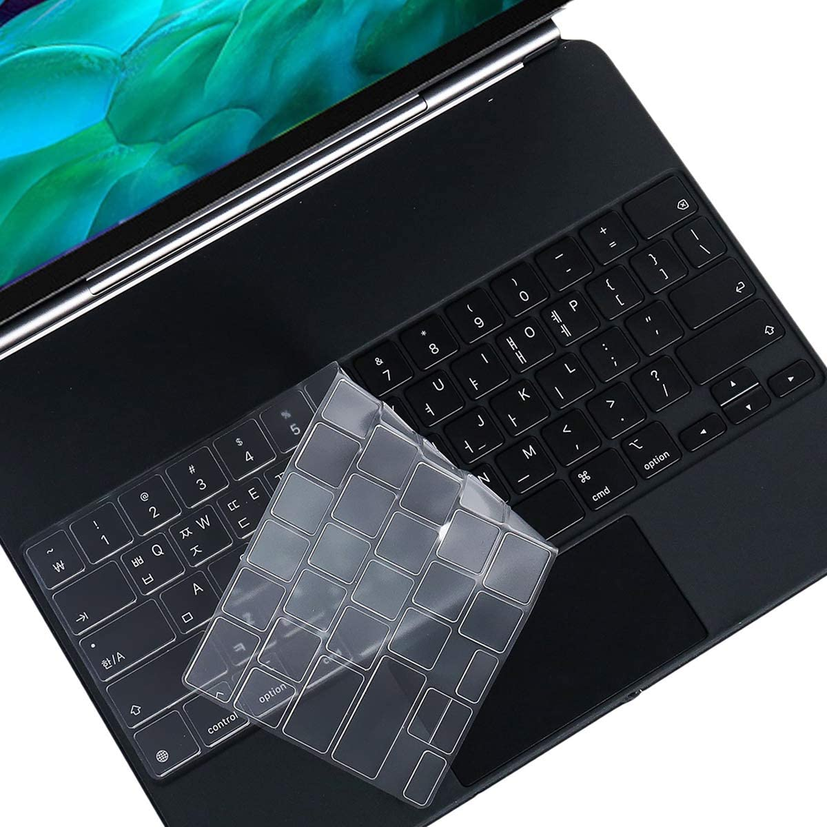 Black Lapogy Magic Keyboard Covre Skin Only Compatible for Ipad Pro 12.9 inch(4th Generation),TPU Protective Skin Keyboard Accessories Cover