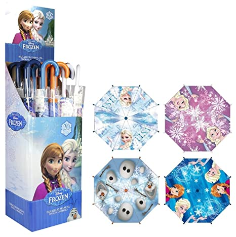 Frozen Frozen de Anna Elsa Olaf paraguas Varios diseños Morado Anna Elsa blau