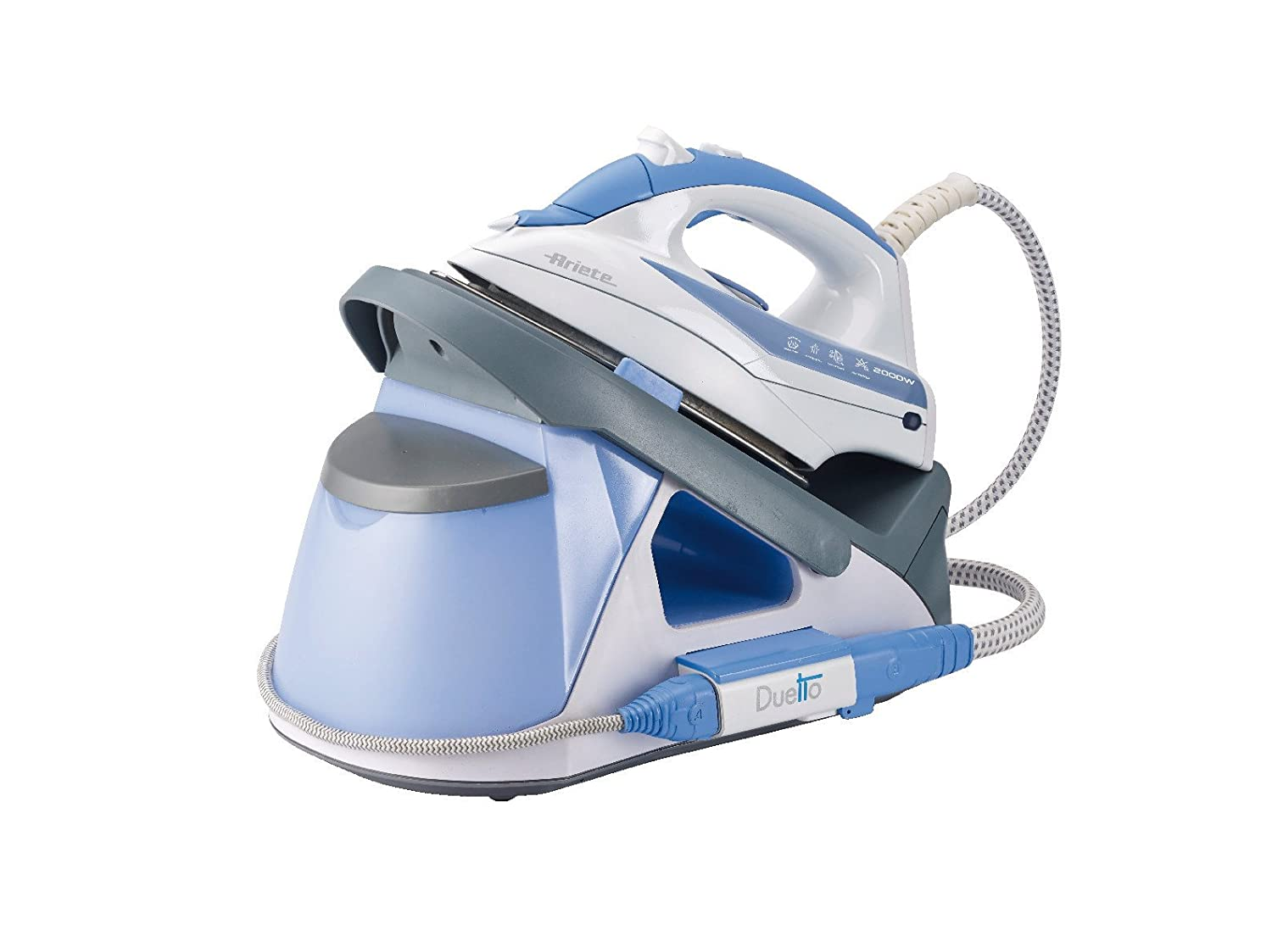 Ariete 6431 CENTRO DE PLANCHADO STIROMATIC DUETTO 2000 W 1.5 litros, Acero Inoxidable, Azul, Color blanco: Amazon.es: Hogar