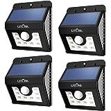 Litom Bright 8LED Solar Power Lights 3Mode Outdoor Solar Motion Light for Path Garden Lighting-4Pack
