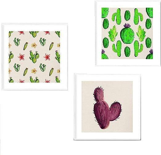 Pack de Tres láminas de Cactus. Posters Cuadrados con imágenes ...