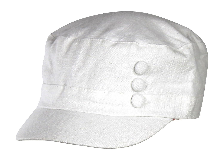 100 %コットンリネンCadet Cabbie Hat w /花柄裏地 – Short Brim Newsboy Cap B06XKLNTFT  ホワイト
