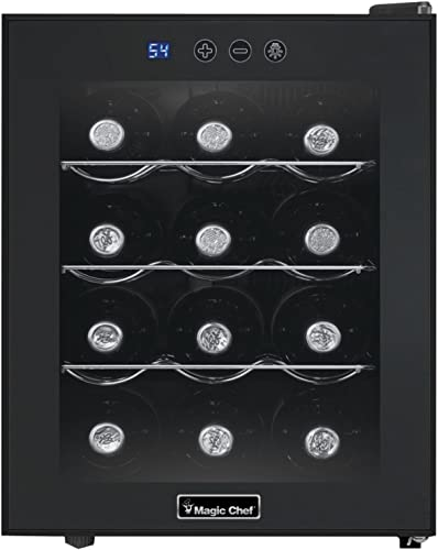 Magic-Chef-MCWC12B-Black-12-Bottle-Single-Zone-Wine-Cooler