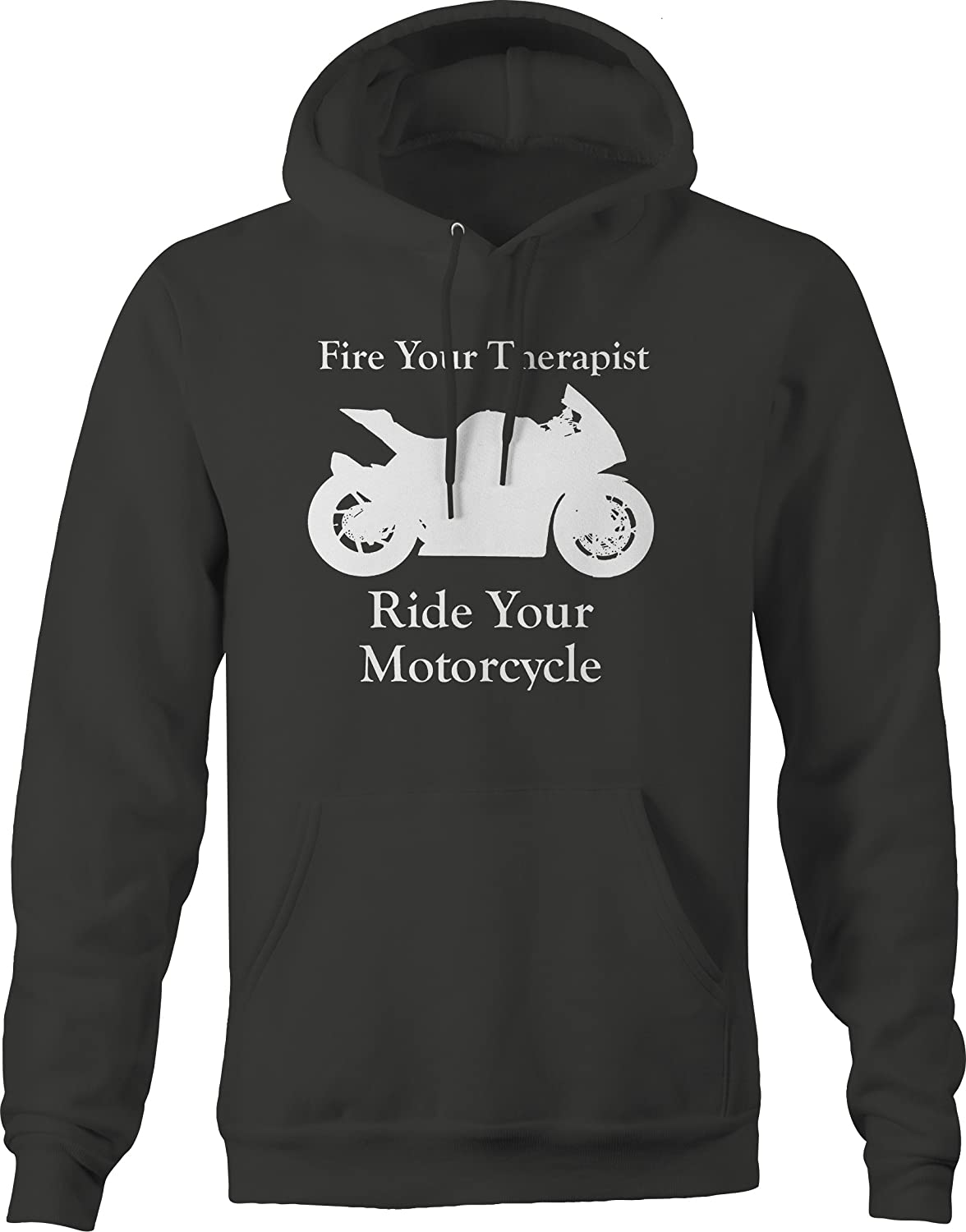 Fire Your Therapist Ride Motorcycle Street Bike Hooded Graphic Hoodie for Men