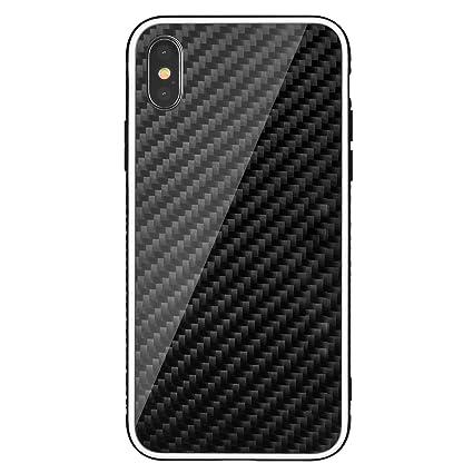 Amazon.com: Funda de fibra de carbono y madera para iPhone ...