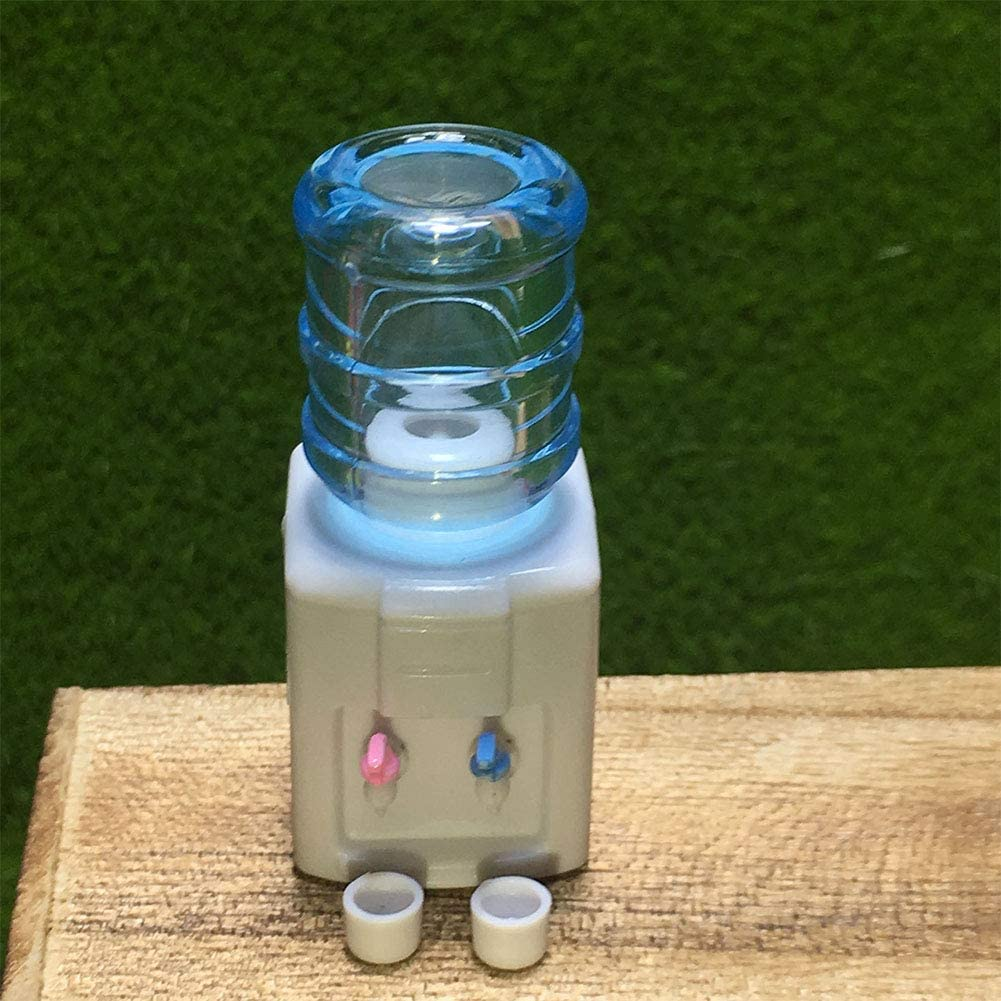 bulingbuling Juego De Ni/ños Doll House Set Mini Dispensador del Agua De Los Ni/ños Casa Fuente De Agua Playset Miniatura Fuentes De Agua Potable Doll House Kit