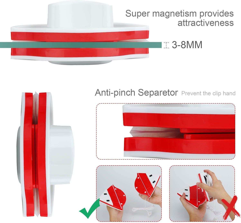 Limpiacristales Doble Cristal Limpia Cristales Ventanas Magnetico Acristalamiento Simple 3-8 mm Limpiador para Interior y Exterior