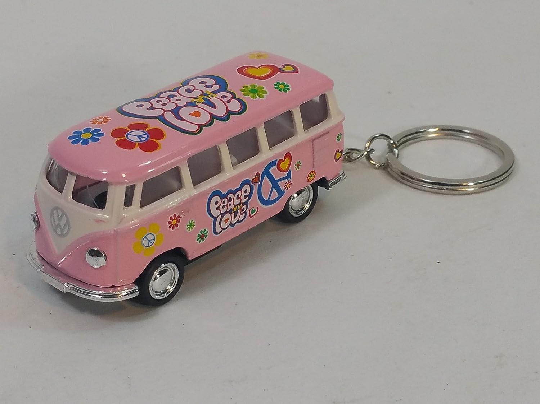 Amazon.com: Kinsmart Rosa Classic 1962 Love & Peace VW ...