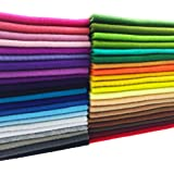 flic-flac 42pcs1.4mm Thick Soft Felt Fabric Sheet Assorted Color Felt Pack DIY Craft Sewing Squares Nonwoven Patchwork (30cm