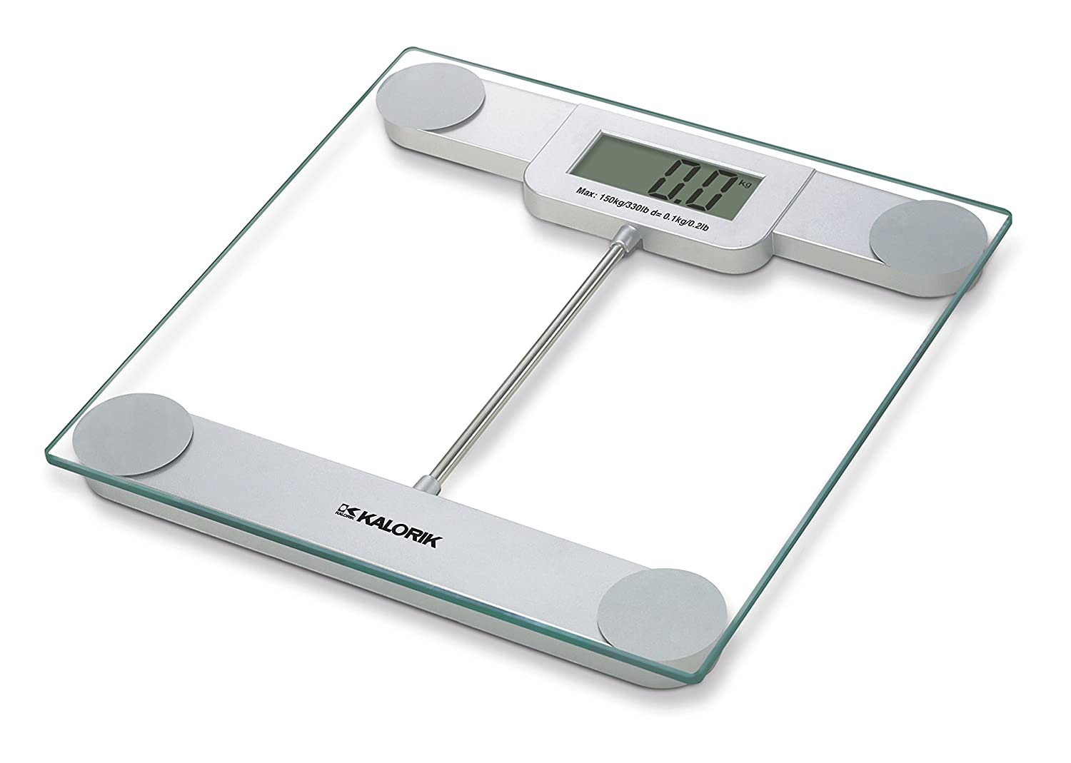 Kalorik EBS 39693 Precision Digital Glass Bathroom Scale Glass Silver