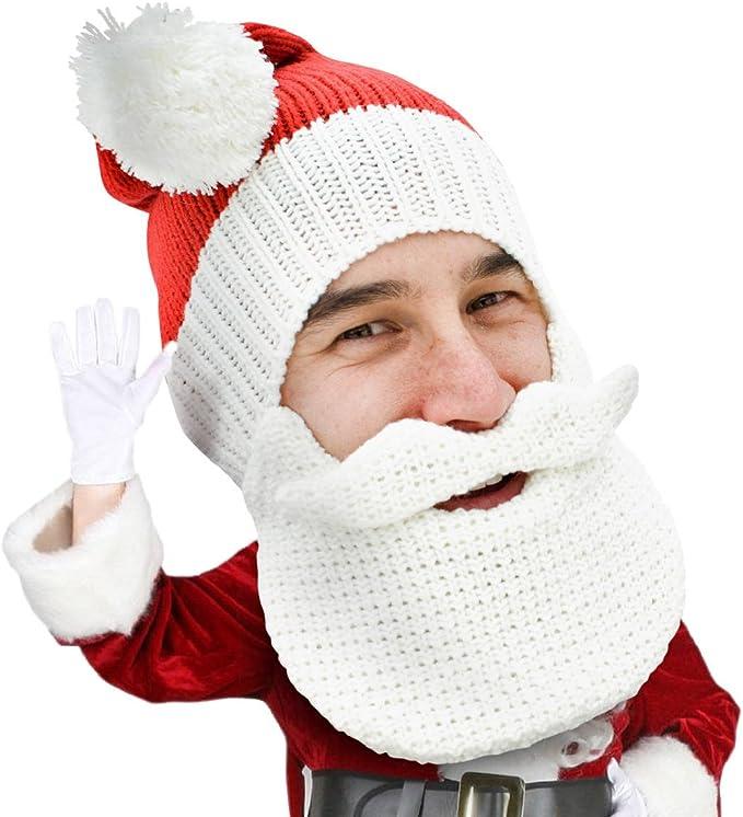 Natale Santa Clause Uomo//Donna Babbo Natale Cappello con Barba Natale Babbo Natale Barba
