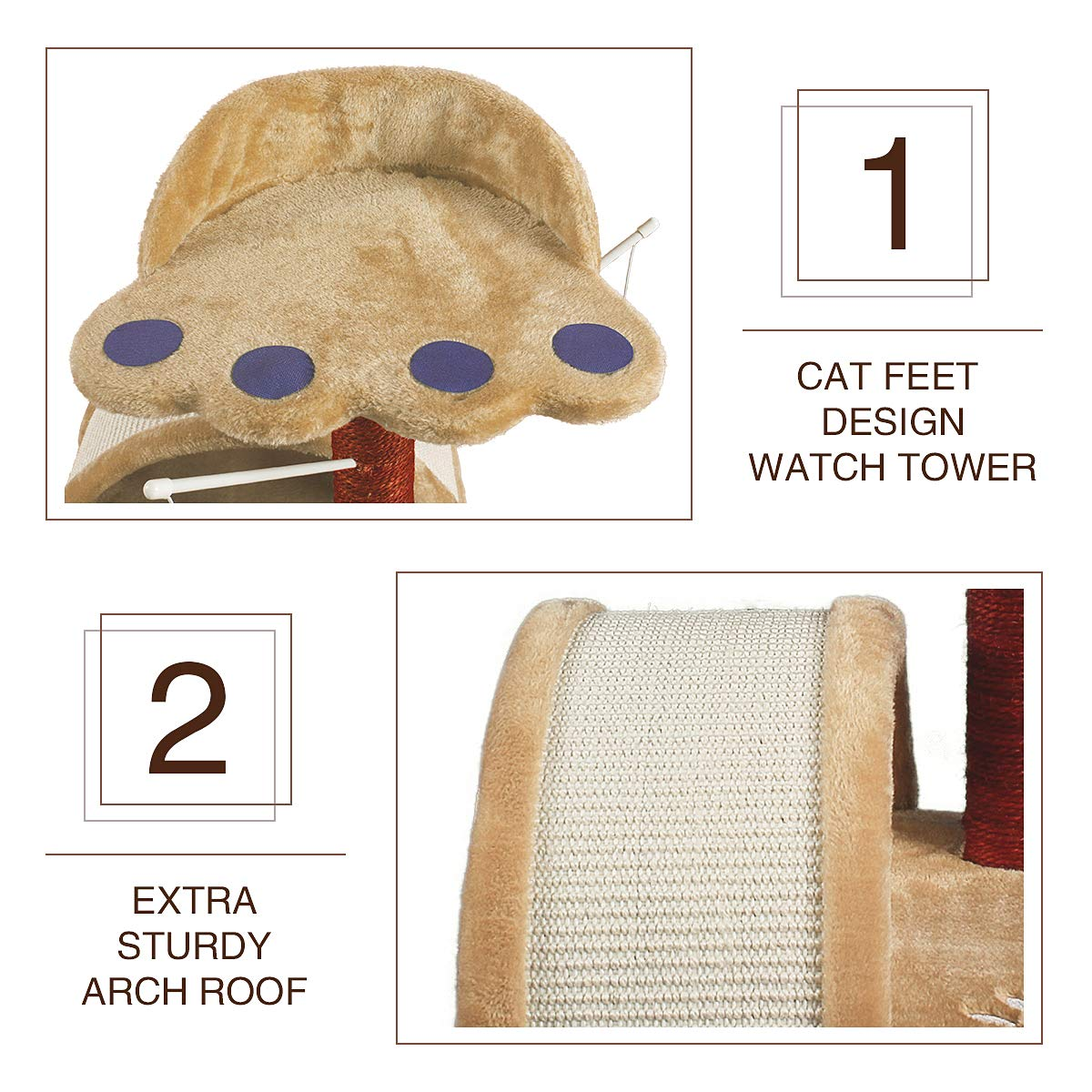 Cat Tree Scratch Post Pet Furniture JR Knight CT102GEBG Cat Towel Toy With Teaser Replacements for Small Cats