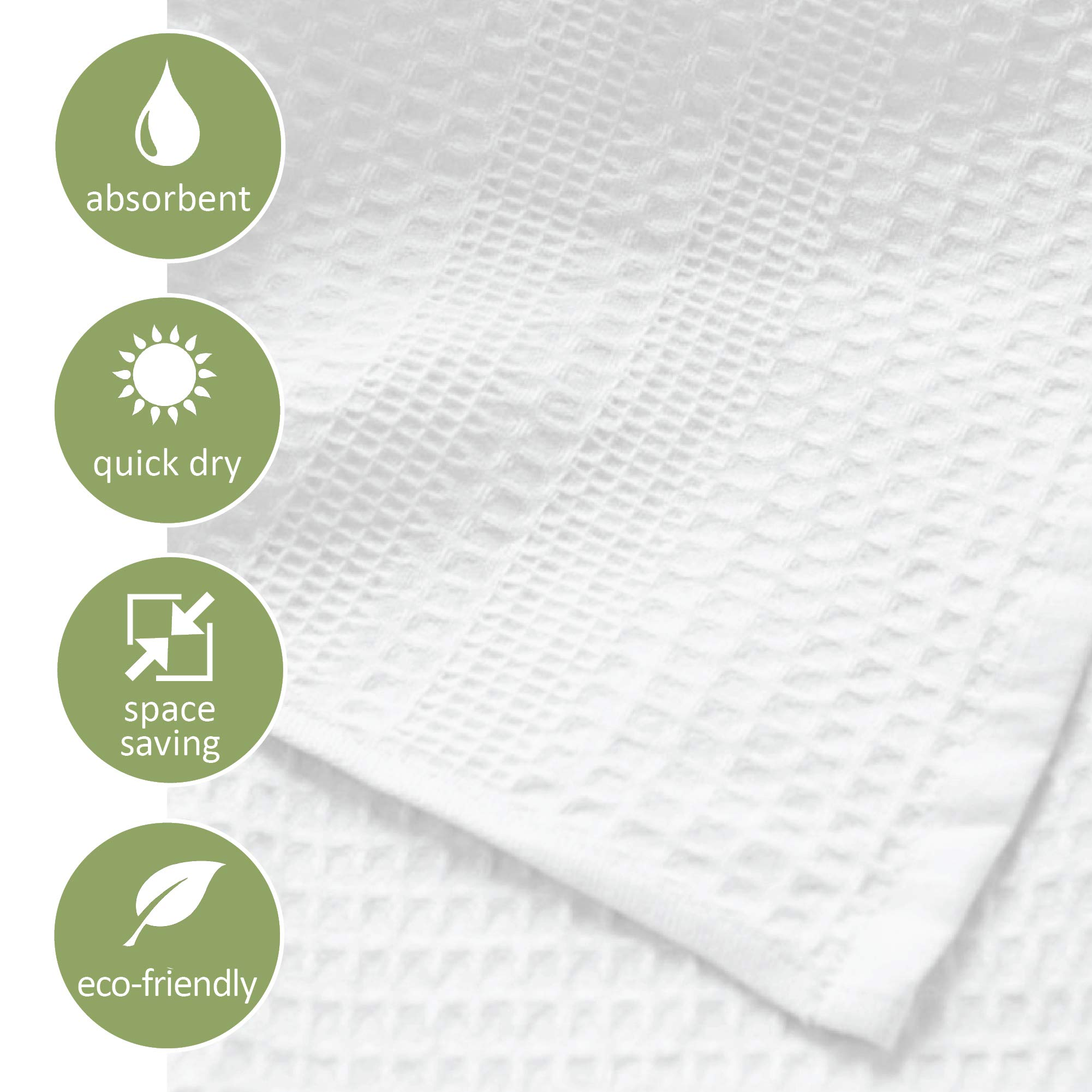 Gilden Tree 100% Natural Cotton Classic Waffle Weave Bath Towel Set (Stone)