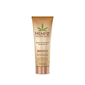 Hempz Touch of Summer Daily Moisturizer -Option : Medium Skin Tones Dermarite PeriFresh Rinse-Free Perineal Cleanser 7.5 Ounces (Pack of 6)
