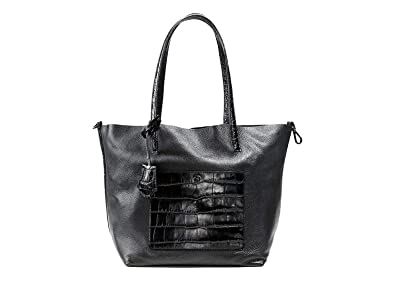 fab8106c557689 Image Unavailable. Image not available for. Colour: Michael Kors Colgate Large  Black Leather Croc Grab Bag Tote