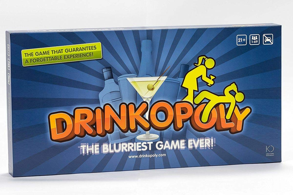 Drinkopoly CRZ497019 Board Game Ludo Fact - Made in Germany