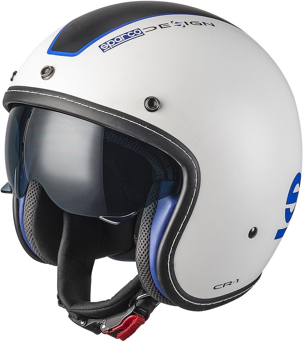 Wei/ß XS Sparco 0033400XSBIAZ Cafe Racer Helme