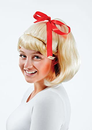 Women/'s Ladies Flicked Beehive Bob Wig Blonde 50s Rock n Roll Fancy Dress Grease